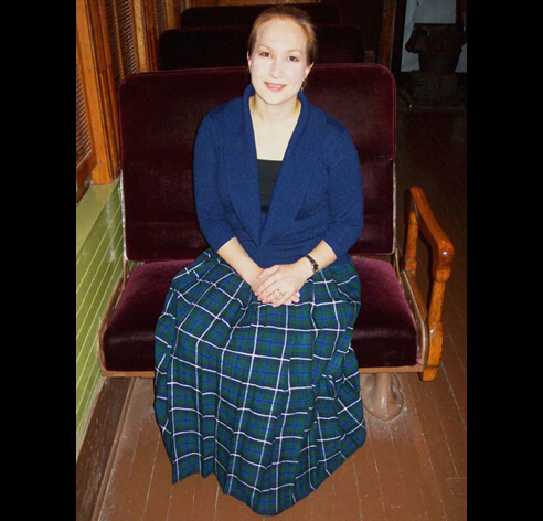 Women's Formal Wool Plaid Skirt, Made to Measure