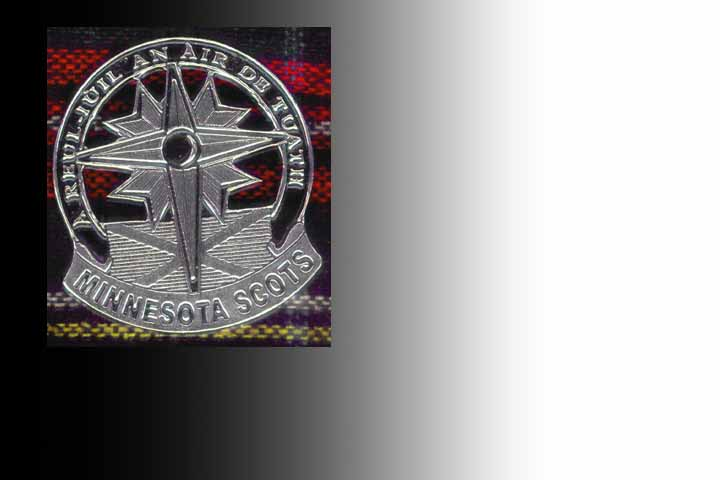 Minnesota Scots Pewter Cap Badge and Lapell Pin